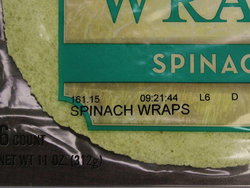 Print Sample Flexible Packaging Spinach